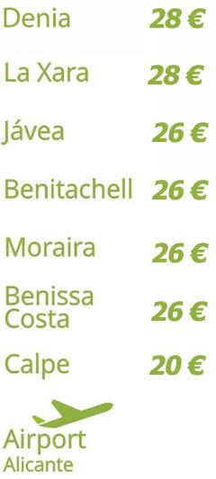 precios costa